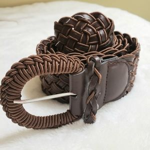 Braided Woven Wide Medium size Belt
